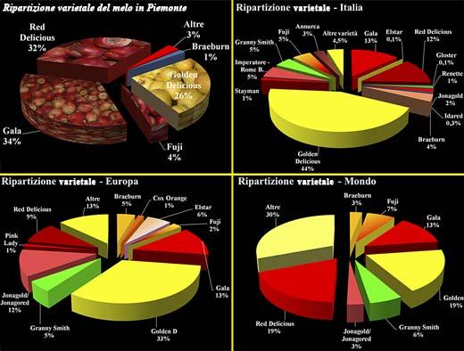 Clicca sull'immagine per ingrandire - Ripartizione varietale melo