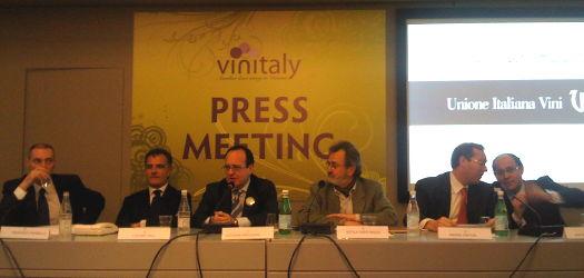 Unione Italiana Vini - conferenza stampa Vinitaly