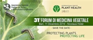 31° Forum di medicina vegetale: protecting plants, protecting life