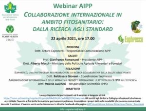 EVENTO ONLINE - Collaborazione internazionale in ambito fitosanitario: dalla ricerca agli standard