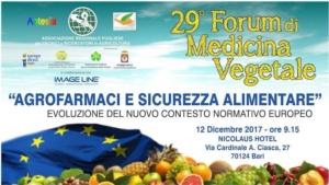 29° Forum di medicina vegetale - Agrofarmaci e sicurezza alimentare