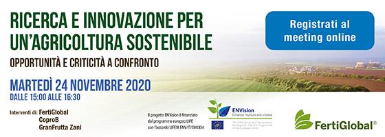 Partecipa al webinar sul futuro dell'agricoltura
