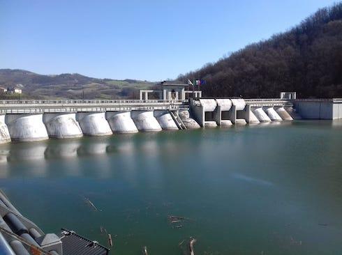 La diga del Molato in alta Val Tidone
