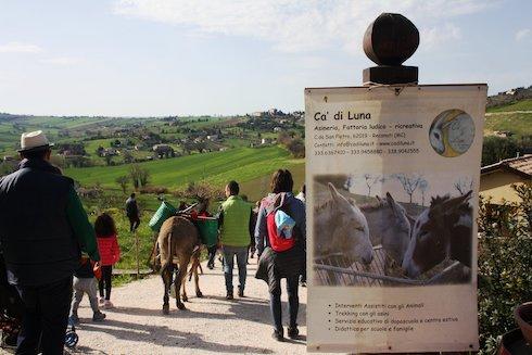 Trekking alla fattoria Ca' di Luna