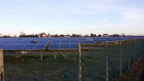 Fotovoltaico dell'azienda agricola Bertoni Gian Paolo