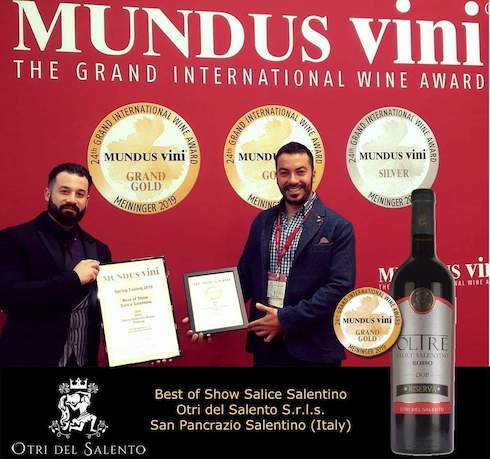 Best of show Salice Salentino - Mundus vini