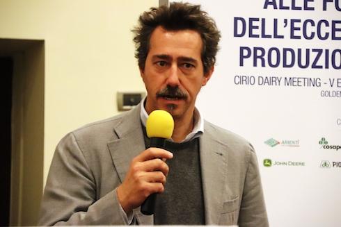 Il saluto alla platea di Andrea Benetton, presidente di Cirio Agricola e di Maccarese Spa