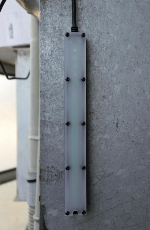 L'antenna si installa nel fienile e riceve i dati tramessi via radio dalle sonde