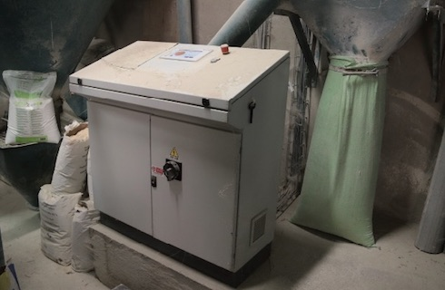 La centralina di controllo dell'impianto automatizzato