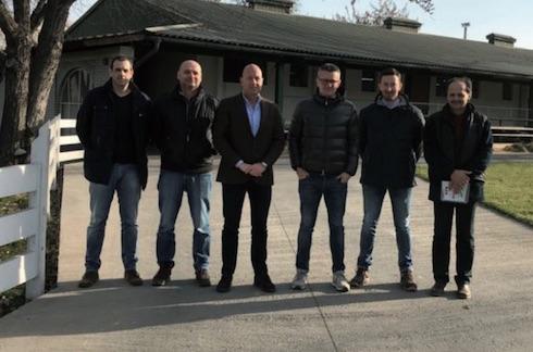 Da sinistra: Zoltan Guti, Nicola Penzo, il ceo del Gruppo Hunland Jos Janssen, Giuliano Rossetto, Marco Vanzetto e Otto Foldi