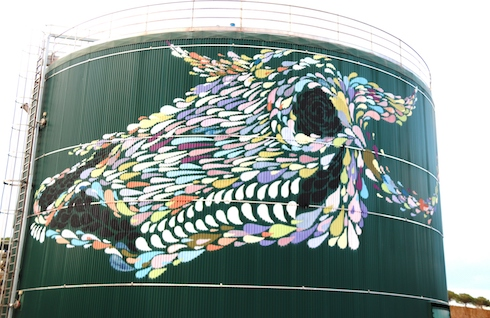 Particolare di 'Pippi', un altro dei murales realizzati da Bue 25-30 a La Cerreta
