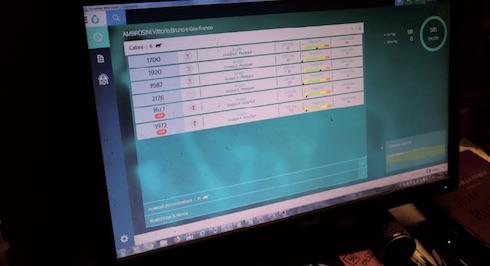 Sul pc viene visualizzato l'elenco delle bovine da fecondare e i soggetti da controllare per via di un indice di salute basso e della scarsa attività ruminativa. Il dato può venire incrociato con quello sulla performance produttiva