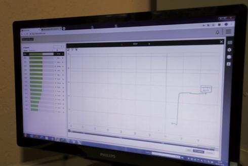 La schermata di HayTech con l'andamento delle temperature, sonda per sonda