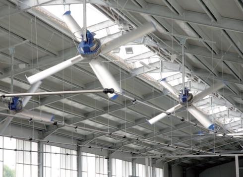 Oltre ai ventilatori modello Cross, l'azienda dispone anche di destratificatori
