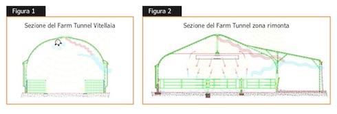 Ventilazione Farm tunnel vitellaia e Farm tunnel zona rimonta