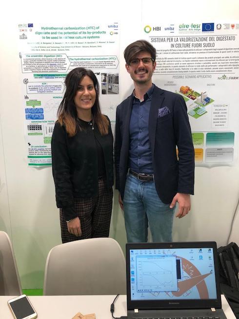 Christian Vinante di HbiGroup e Silvia Celletti, ricercatrice Libera Università di Bolzano assieme a NovelFar