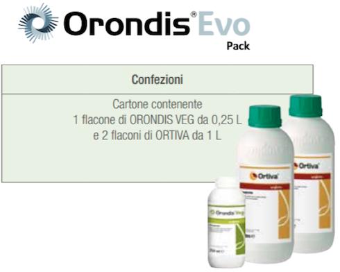 Orondis® Evo Pack: combi-pack contenente una confezione di Orondis® Veg e due di Ortiva®