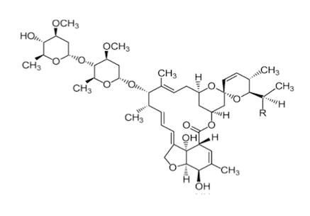 Struttura molecolare di abamectina
