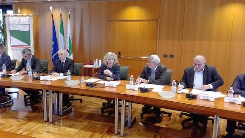 Un momento della presentazione dell'accordo tra Barilla e le Op