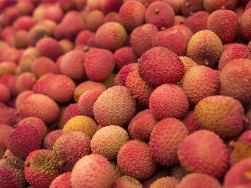 Frutti di Litchi, altro frutto tropicale che inzia a diffondersi in Italia e in Europa