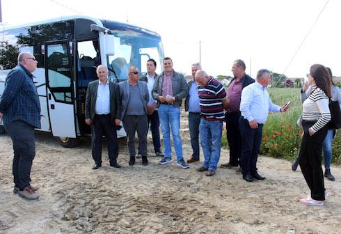 La delegazione albanese in visita da Geoplant Vivai