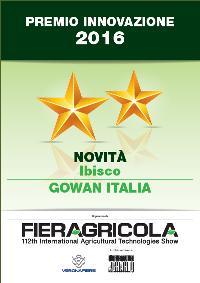 Ibisco ha ottenuto il premio innovazione a Fieragricola 2016