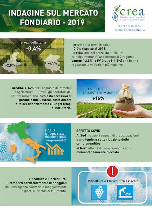 Infografica mercato fondiario 2019 - Crea