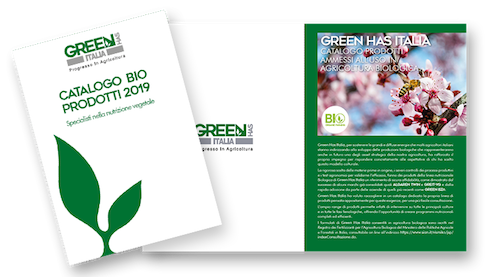 Foto del catalogo bio di Green Has Italia 2019