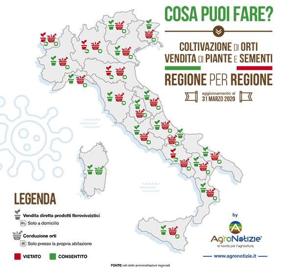 Infografica delle regioni italiane