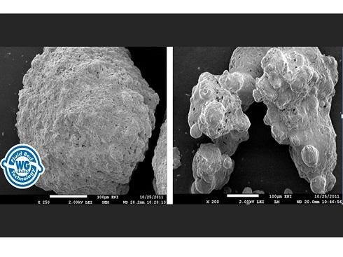 Confronto fra particelle di rame ottenute con processi industriali differenti