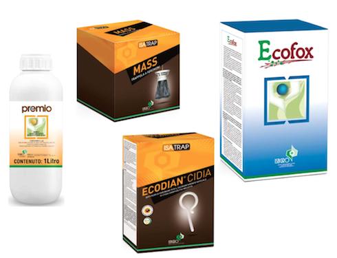 Alcuni dei prodotti a catalogo di Isagro SpA