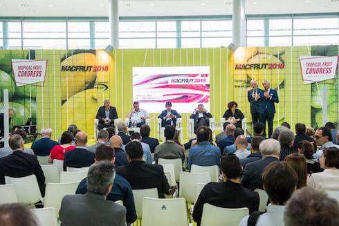 Un momento del forum peschicolo europeo a Macfrut 2018