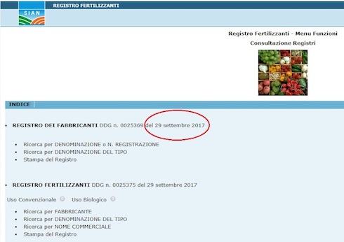 portale Sian registo fertilizzanti