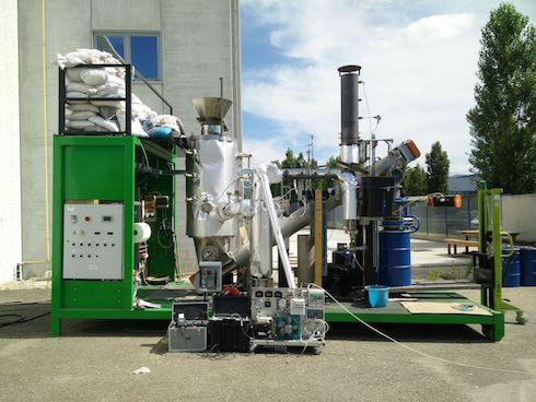 Il reattore pilota CarboN, con il quale verranno effettuate le prove di produzione di biochar