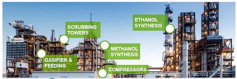 L'impianto di gassificazione e sintesi di Enerkemad Alberta, Canada