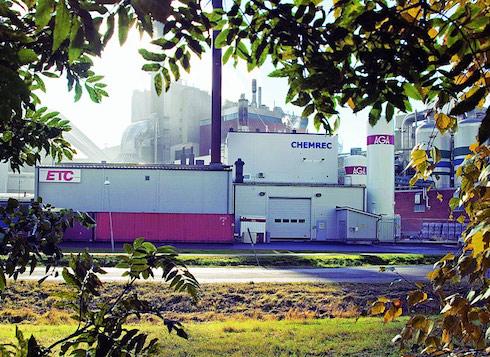L'impianto di produzione di Bio-Dmedi proprietà della Chemrec, a Piteå, Svezia