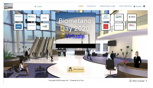Interfaccia Biometano day 2020 virtuale
