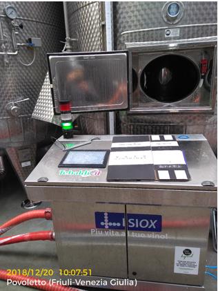 Particolare di integrazione hardware nell'impianto di vinificazione
