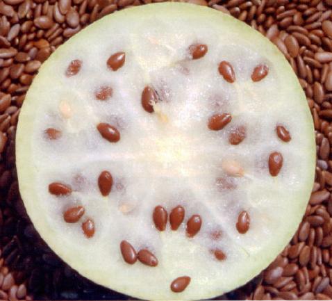 Sezione del frutto con polpa e semi