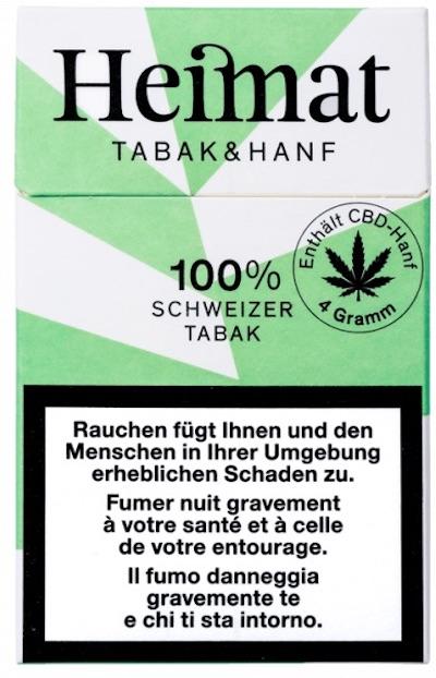 Sigarette di canapa e tabacco