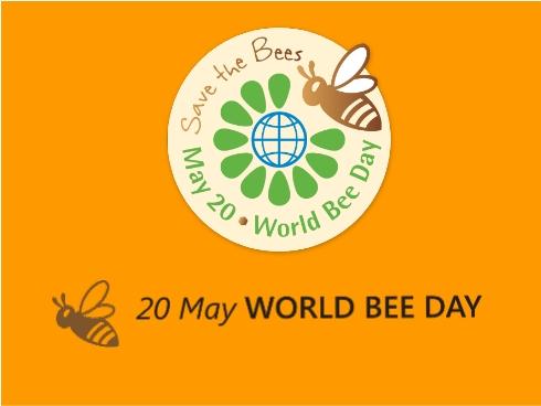 Il logo della Giornata mondiale delle api