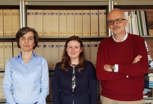 Da sinistra Lucia Natali, Flavia Mascagni e Andrea Cavallini del dipartimento di Scienze agrarie, alimentari e agroambientali di Pisa