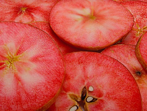 La mela rossa, sia esternamento ed internamento, è una delle principlai novità nelle varietà di melo