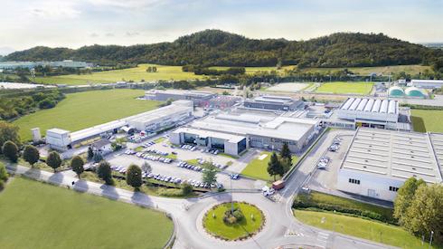 Vista area dell'azienda Plastik