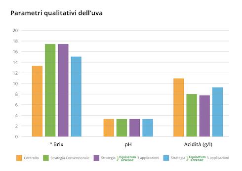 Parametri qualitativi dell'uva