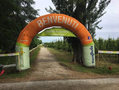 Arco di benvenuto presso la tenuta La Pioppa in occasione del CerealPlus #INNOVATOUR
