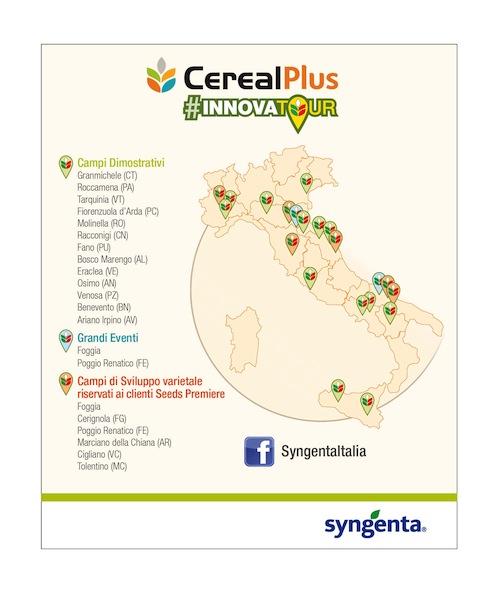 Le venti tappe del CerealPlus InnovaTour di Syngenta, edizione 2018