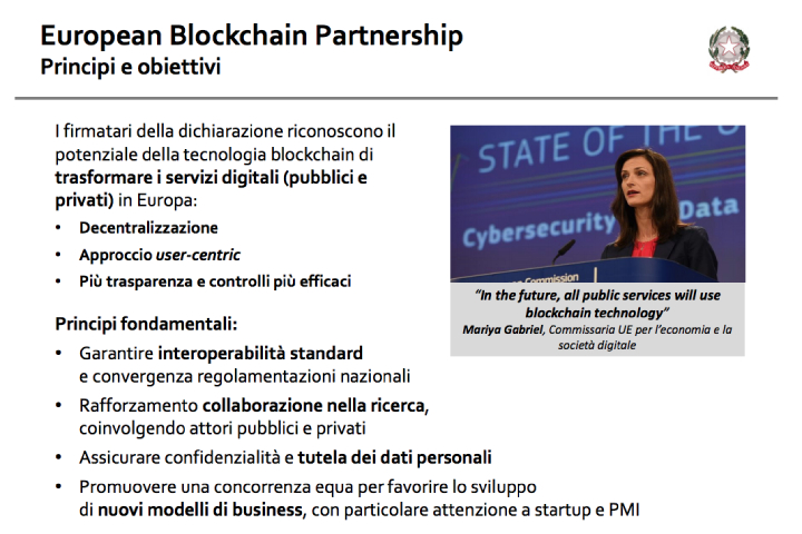 Europeanblockchainpartnership - Principi e obiettivi