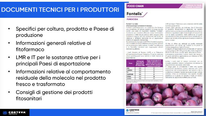 Documenti tecnici per i produttori