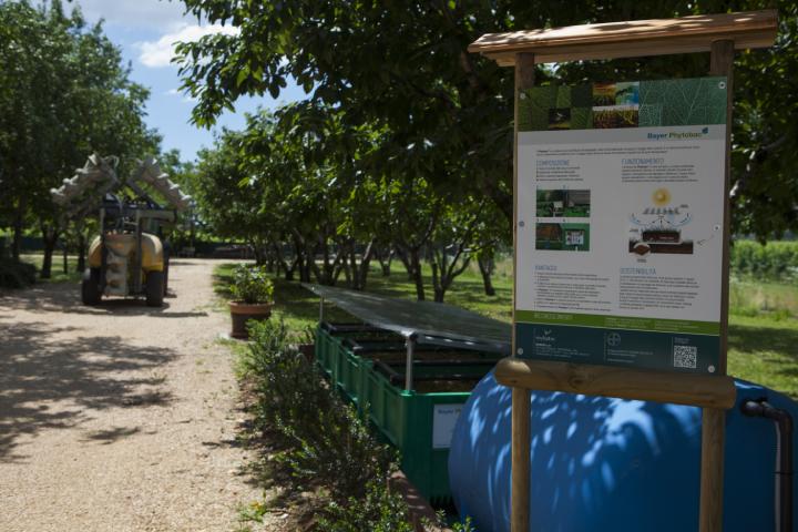 Il sistema Phytobac installato presso l'azienda agricola Moranda
